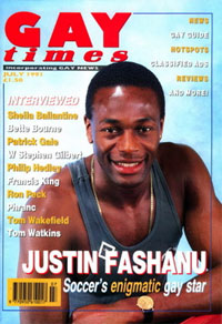 ... after former Nottingham Forest and Norwich player Justin Fashanu (above, ...