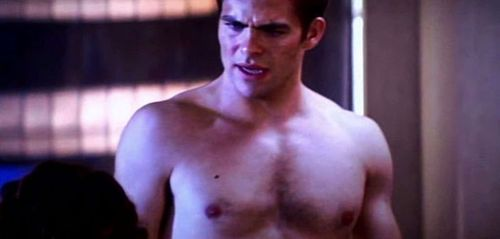 Chris Pine Stripped to His Briefs for Star Trek