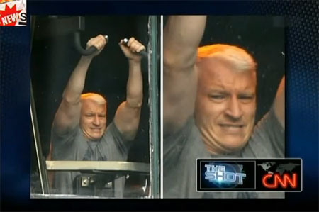 frances fisher biceps. Buff Biceps: Anderson Cooper