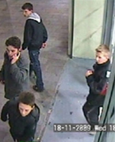 Liverpool police have released a CCTV image of four boys responsible for a ...