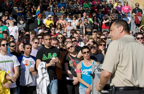 Watch: 1000 March Against Anti-Gay Hate Crime in Austin, Texas