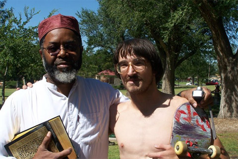 A 23-year-old skateboarder blocked a public Quran-burning in an Amarillo, ...
