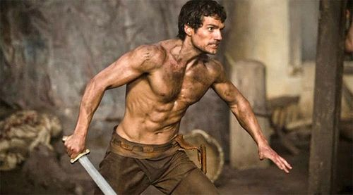 Photo: Henry Cavill as Dirty, Shirtless Warrior God Theseus