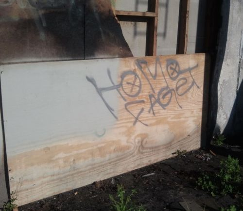 Bigoted vandals targeted a gay bar in Fresno, California earlier this week, ...