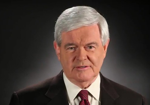 newt gingrich young. Newt Gingrich Announces He#39;s
