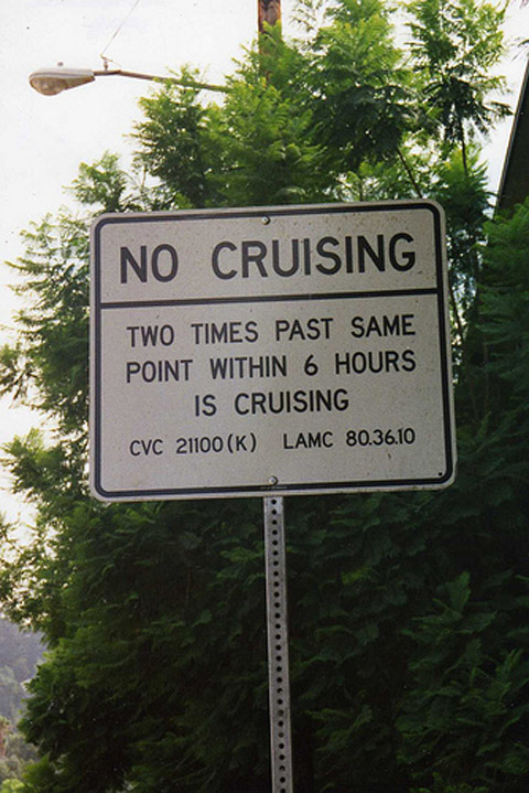 'No Cruising' Signs, Erected to Thwart Gay Public Sex, to Be Removed from ...
