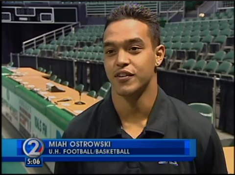 A number of high-profile college athletes in Hawaii are taking part in a ...