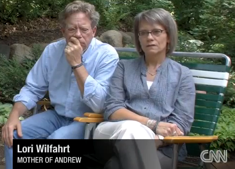 Lori and Jeff Wilfahrt, parents of Andrew Wilfahrt, a gay Army Corporal ...