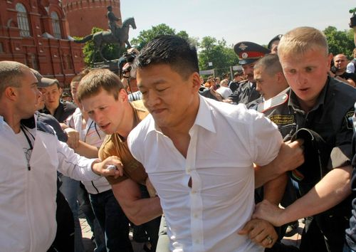 Gay Rights Activists Attacked During Rally In Moscow