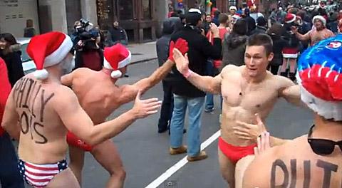 Boston's Speedo Santa Run: VIDEO