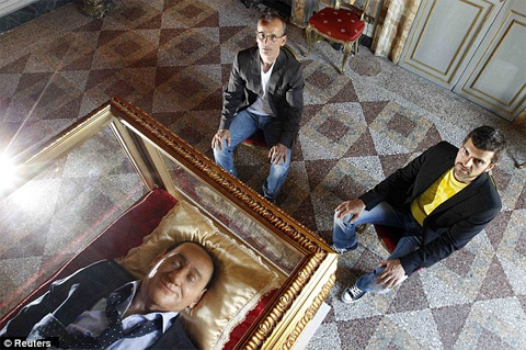 First Gay Couple Ever Married Creates Dead Berlusconi Artwork Called 'The ...