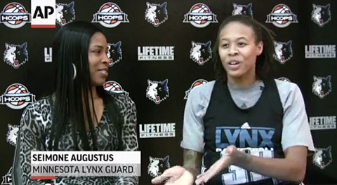 Seimone Augustus, Minnesota Lynx, WNBA, gay marriage, Washington Blade