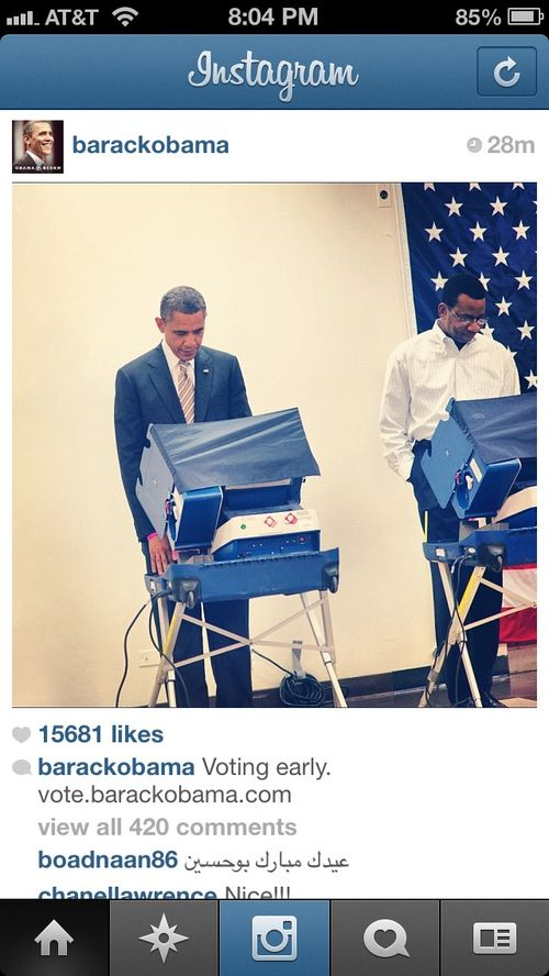 President Obama is the first sitting president to utilize early voting