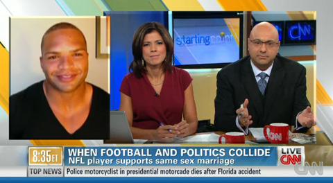 Baltimore Raven Brendon Ayanbadejo appeared on CNN's Starting Point this ...