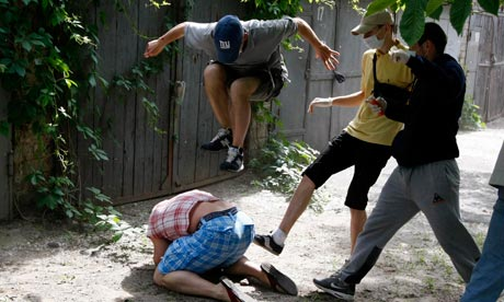 Ukrainian beating