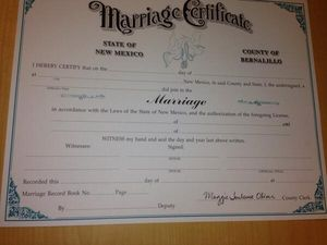 NM marriage license