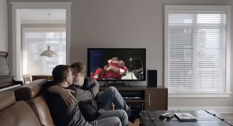Bell Canada gay kiss