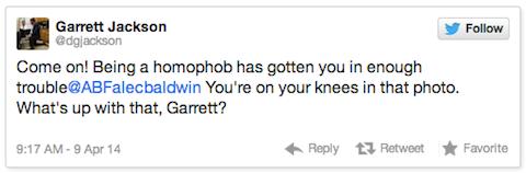 Alec Baldwin Homophobic Tweet