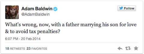 Adam Baldwin tweet