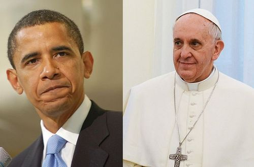 Obama and Pope Francis