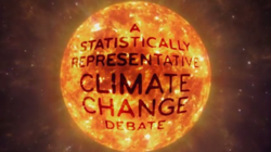 A Statistically Representative Climate Change Debate