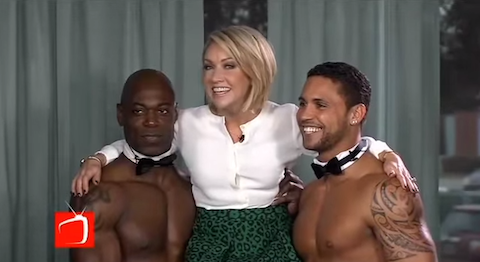 Amy Kushnir and Chippendales Dancers