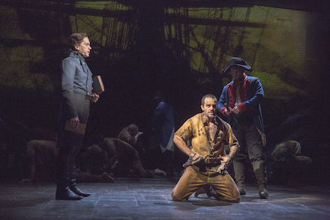 18. Will Swenson as Javert and Ramin Karimloo as Valjean .  Photo by Michael Le Poer Trench