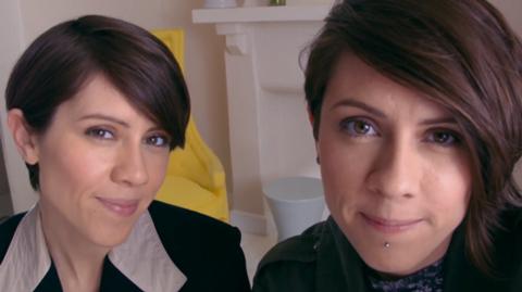 Lesbian twin video