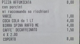Faggot written on bill in Italy