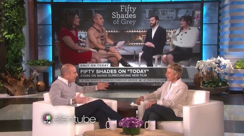 Matt Lauer on Ellen