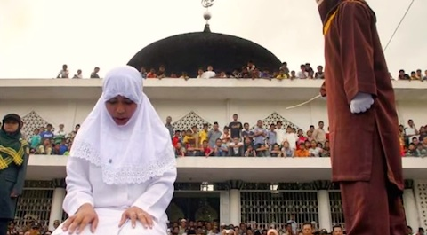 Caning aceh indonesia
