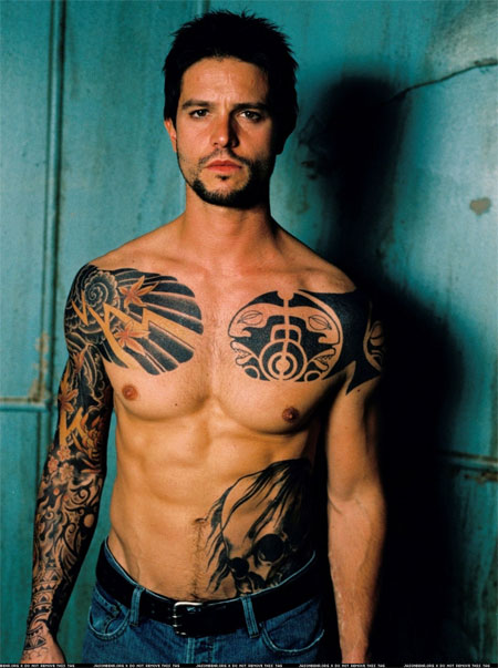 Matthew Fox Tattoo. Jason Behr: Tattoo You