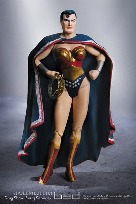 Superman Wonder Woman Drag Queen