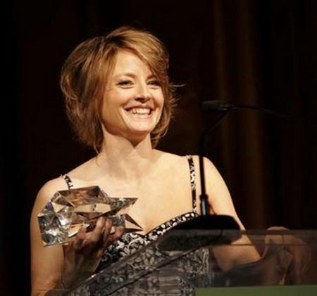 ... Jodie Foster received the Sherry Lansing Leadership Award, ...
