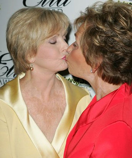 Florence Henderson and Judge Judy Sheindlin got close at a Beverly