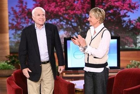 John McCain and Ellen DeGeneres Talk Same-Sex Marriage. Mccain_ellen
