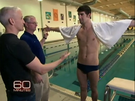 Anderson Cooper Gets in the Pool with Michael Phelps. Phelps