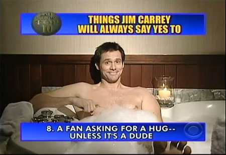 Letterman and Jim Carrey Trade Offensive Gay Jokes in Top Ten. Letterman2